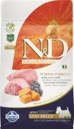 N&D GRAIN FREE PUMPKIN LAMB & BLUEBERRY ADULT MINI 800 GR