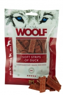 WOOLF SNACKS SOFT STRIPS OF DUCK 100 GR
