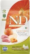 N&D GRAIN FREE PUMPKIN BOAR & APPLE ADULT MINI 800 GR