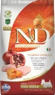 N&D GRAIN FREE PUMPKIN CHICKEN & POMEGRANATE ADULT MINI 2,5 KG