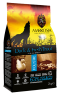 AMBROSIA GRAIN FREE HOLISTIC DUCK & TROUT 2 KG