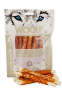 WOOLF SNACKS CHICKEN TWISTER WITH RAWHIDE 100 GR