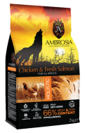 AMBROSIA GRAIN FREE HOLISTIC CHICKEN & SALMON 2 KG