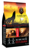 AMBROSIA GRAIN FREE HOLISTIC BUFFALO & FRESH MACKEREL 2 KG