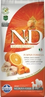 N&D GRAIN FREE PUMPKIN CODFISH & ORANGE ADULT MEDIUM/MAXI 12 KG