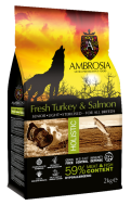 AMBROSIA GRAIN FREE HOLISTIC TURKEY & SALMON (LIGHT - STERILISED - SENIOR) 2 KG