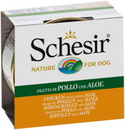 SCHESIR DOG JELLY CHICKEN FILLETS & ALOE 150 GR