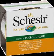 SCHESIR DOG JELLY CHICKEN FILLETS & ALOE 150 GR