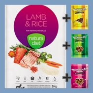 PROMOBOX NATURA DIET LAMB 3KG + 3 BOCADOS SNACKS