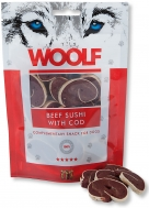 WOOLF SNACKS BEEF SUSHI WITH CODFISH 100 GR