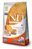 N&D LOW GRAIN CODFISH & ORANGE ADULT MEDIUM 2,5 KG